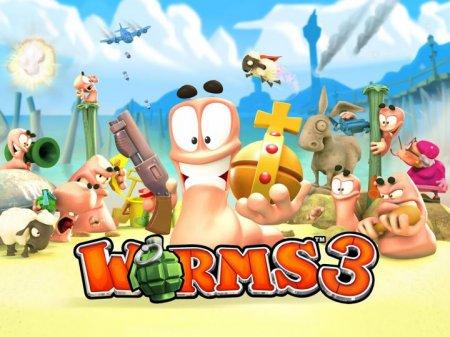 Обложка Worms 3 на Андроид