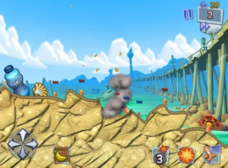 Скриншот Worms 3 на Андроид