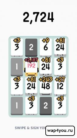 Скриншот игры Threes!