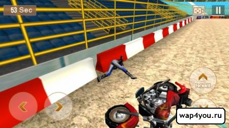 Скриншот Crazy Biker 3D на Андроид