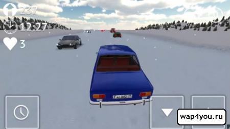 Скриншот Russian Winter Traffic Racer на Андроид