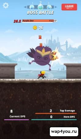 Скриншот игры Tap Titans на android