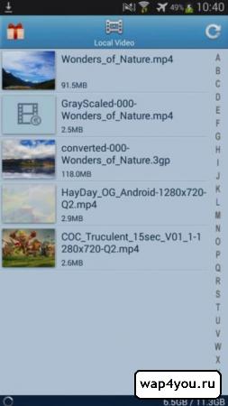 Скриншот HD Video Player для андроид
