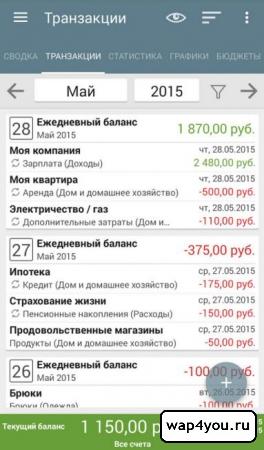 Скриншот Мой бюджет для Android
