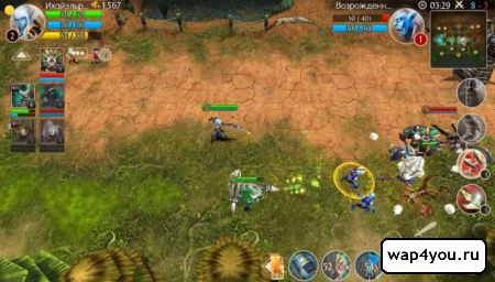Скриншот Heroes of Order & Chaos на android
