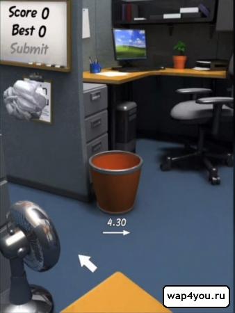 Скриншот игры Paper Toss на андроид