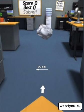 Скриншот Paper Toss на андроид