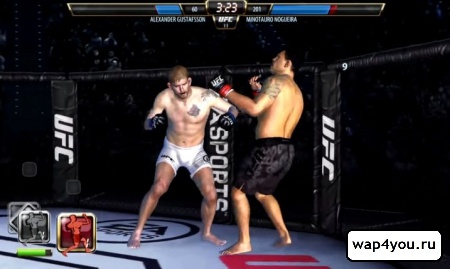 Скриншот UFC на андроид