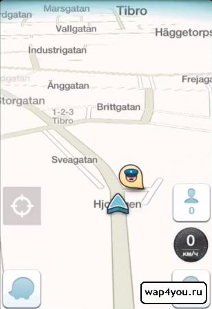 Скриншот навигатора Waze