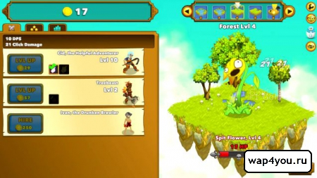 Скриншот игры Clicker Heroes
