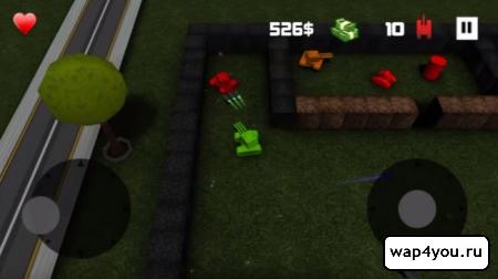 Скриншот Block Tank Wars на Андроид