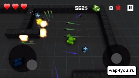 Скриншот Block Tank Wars для Android