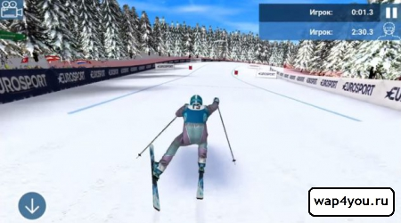 Скриншот Eurosport Ski Challenge 16 для Android