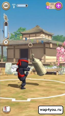Скриншот игры Clumsy Ninja