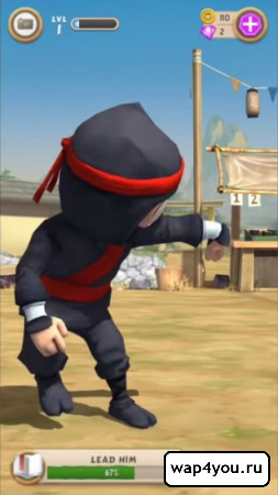 Скриншот Clumsy Ninja на Андроид