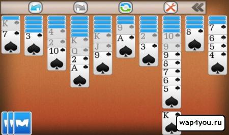Скриншот Пасьянс Паук для Android