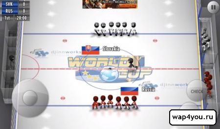 Скриншот Stickman Ice Hockey на Андроид