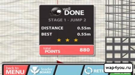 Скриншот игры Stickman Base Jumper