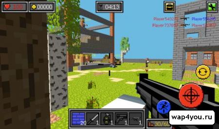 скачать Пиксель Битвы ружья и блоки на Андроид