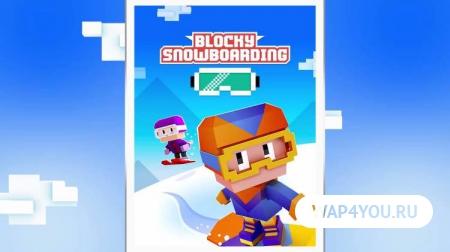 Игра Blocky Snowboarding