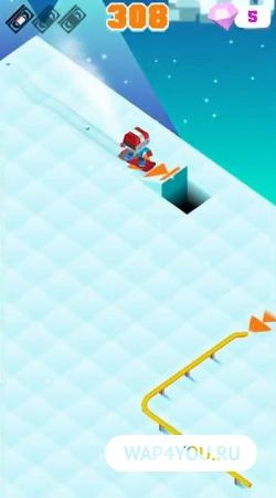 Blocky Snowboarding на андроид