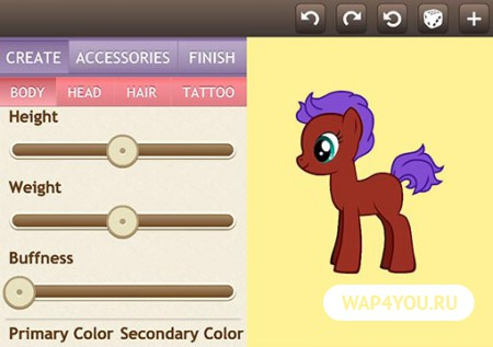 Pony Creator для Андроид