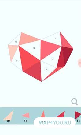 Игра Цвет по количеству - многоугольник