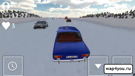 Скриншот Russian Winter Traffic Racer на Андроид