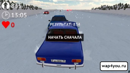 Скриншот Russian Winter Traffic Racer для Android