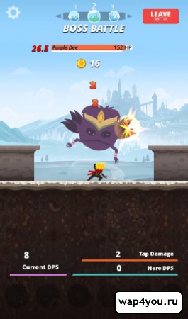 Скриншот игры Tap Titans на android