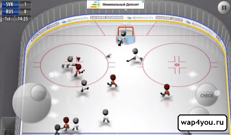 Скриншот Stickman Ice Hockey на Андроид