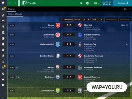 Football Manager Touch 2017 для Android