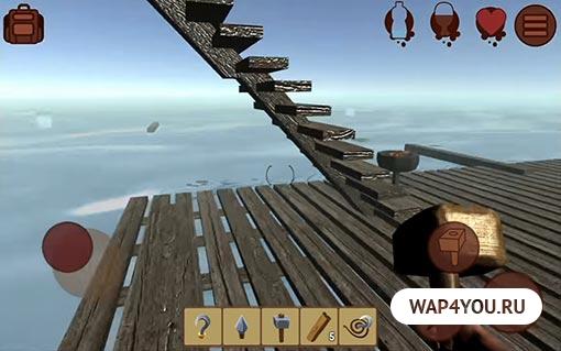 ✓ Raft Survival скачать на Андроид + MOD много ресурсов